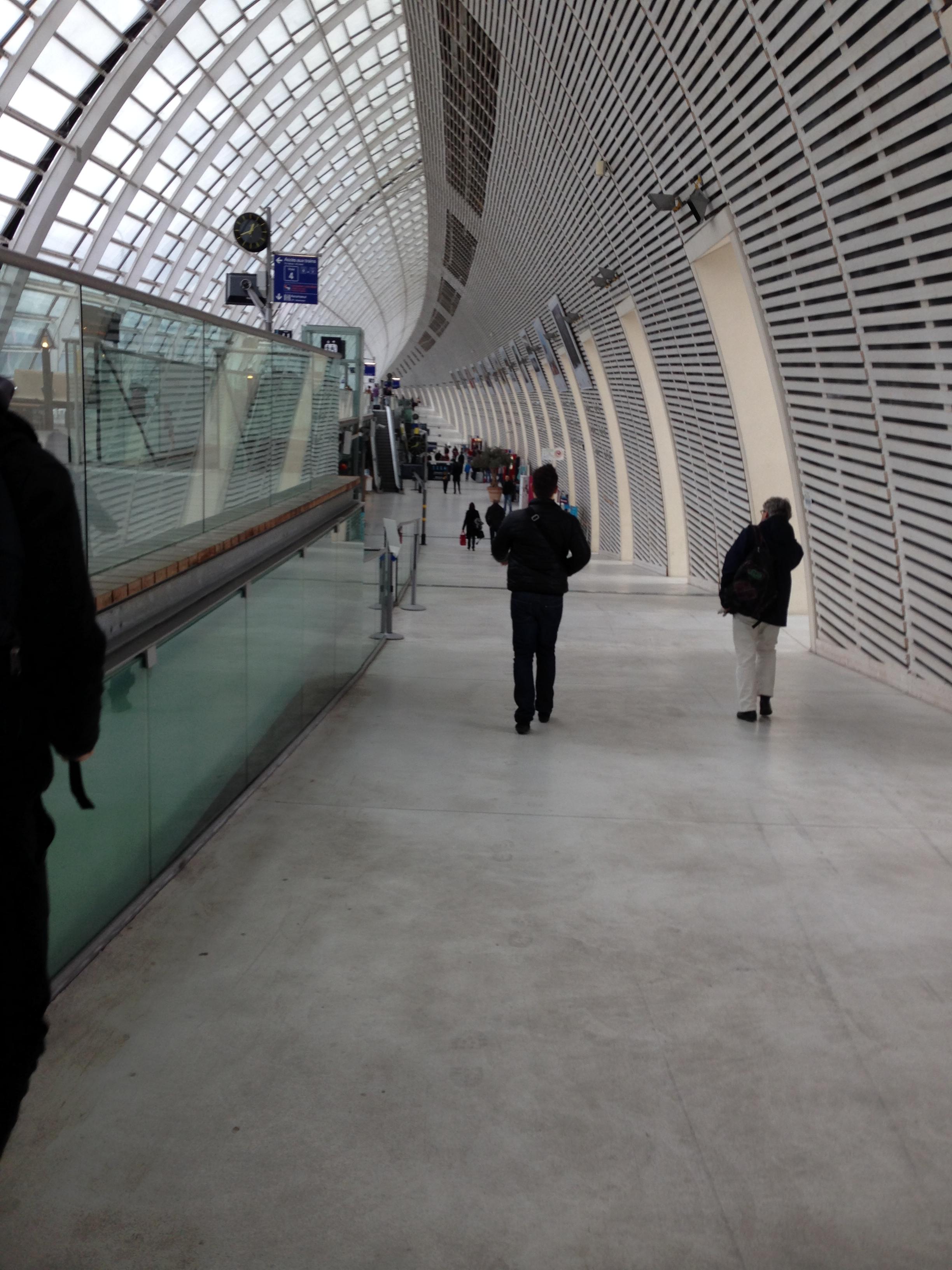 高速列車TGVでニースからアヴィニヨンへ移動。座席を間違えてにらまれたり、親切に道案内してもらったり。