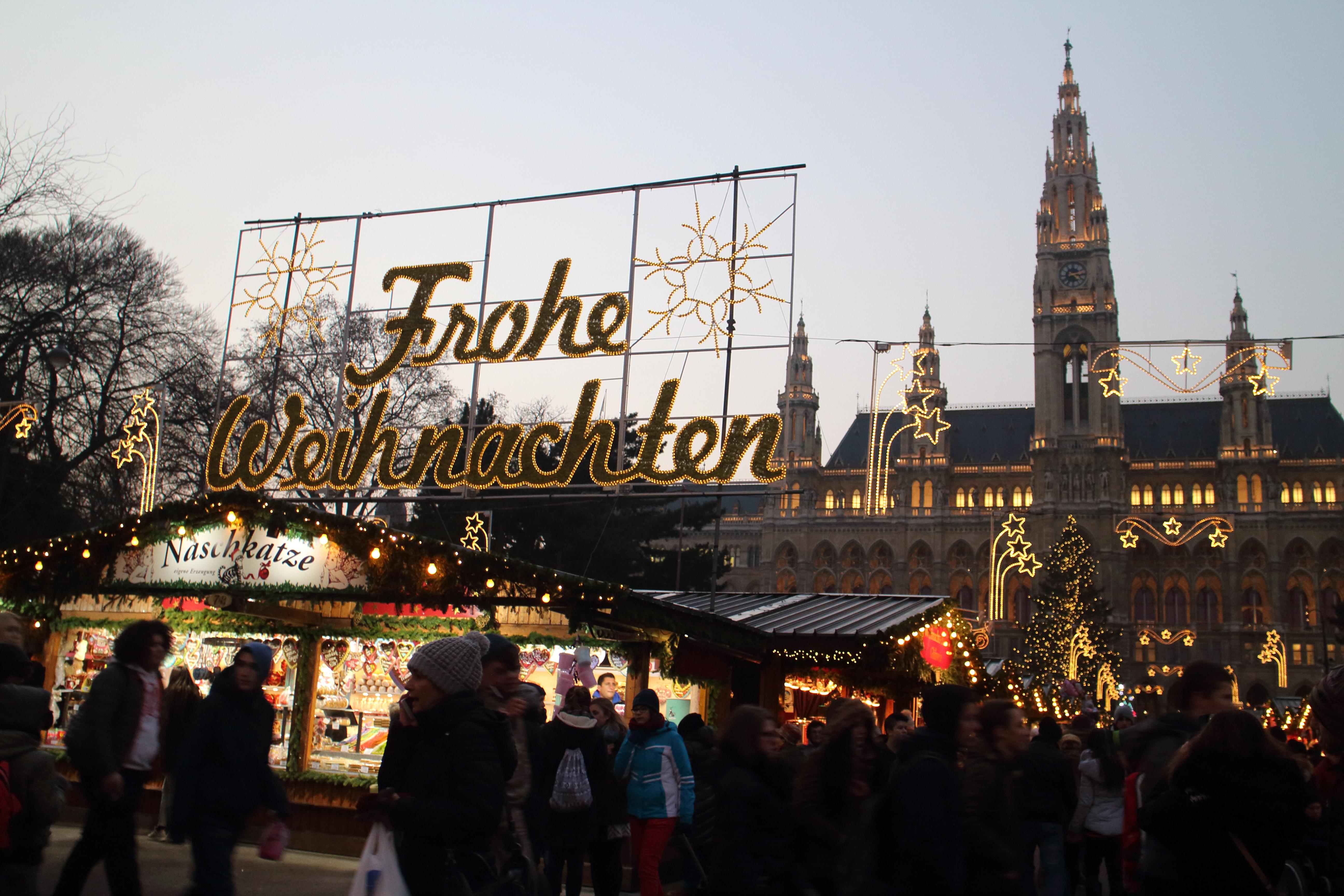 ウィーンのクリスマスマーケットとイルミネーション!