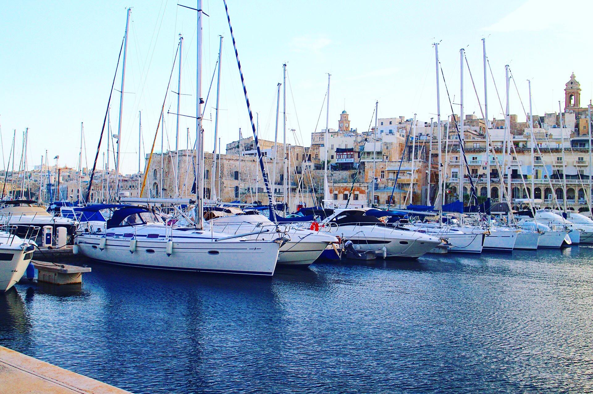 【マルタ共和国】ヴィットリオーザ港の風景